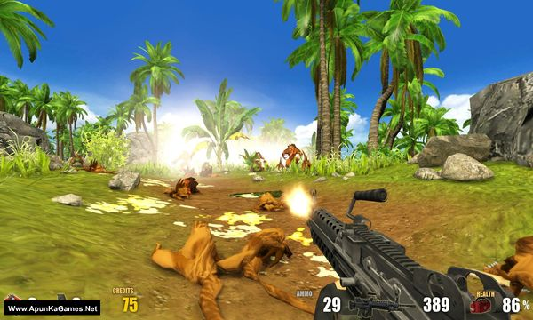 Action Alien: Tropical Mayhem Screenshot 1