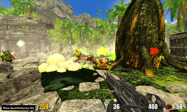 Action Alien: Tropical Mayhem Screenshot 3