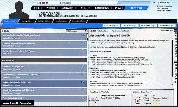 Franchise Hockey Manager 5 Screenshot 3, Full Version, PC Game, Download Free