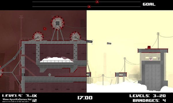 Super Meat Boy Race Mode Screenshot 1, Full Version, PC Game, Download Free