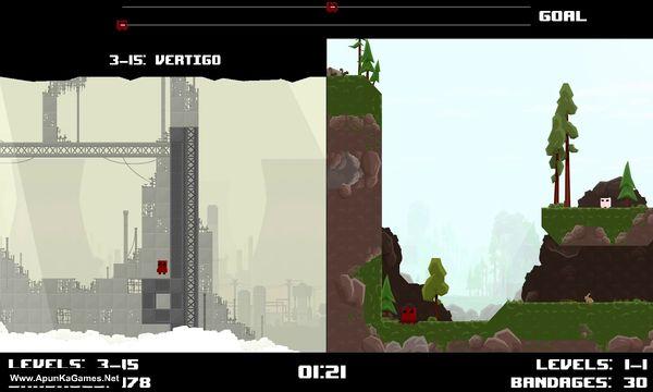 Super Meat Boy Race Mode Screenshot 3, Full Version, PC Game, Download Free
