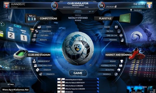 Football Club Simulator 19 Screenshot 2, Full Version, PC Game, Download Free
