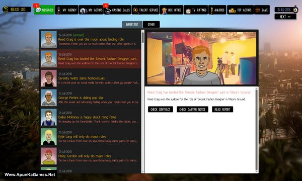 Cattle Call: Hollywood Talent Manager Screenshot 1, Full Version, PC Game, Download Free