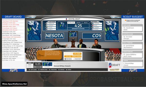 Draft Day Sports: Pro Basketball 2019 Screenshot 1, Full Version, PC Game, Download Free