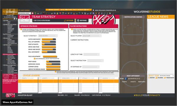 Draft Day Sports: Pro Basketball 2019 Screenshot 3, Full Version, PC Game, Download Free