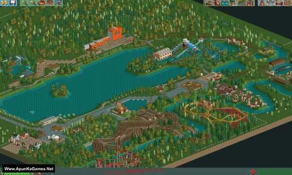 RollerCoaster Tycoon 2: Triple Thrill Pack Screenshot 1, Full Version, PC Game, Download Free