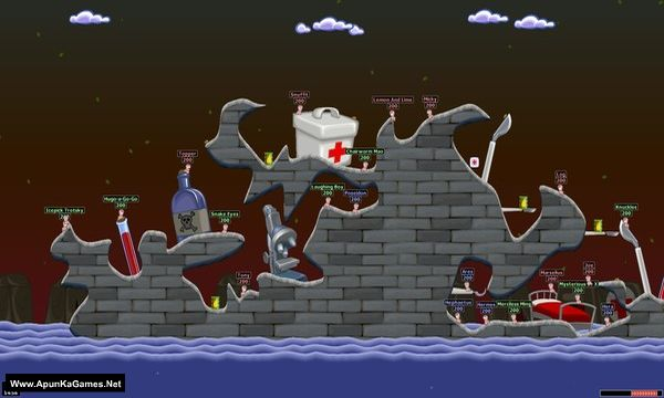 Worms World Party Remastered Screenshot 1, Full Version, PC Game, Download Free