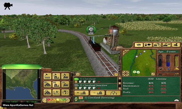 Railroad Tycoon 3 Screenshot 1, Full Version, PC Game, Download Free