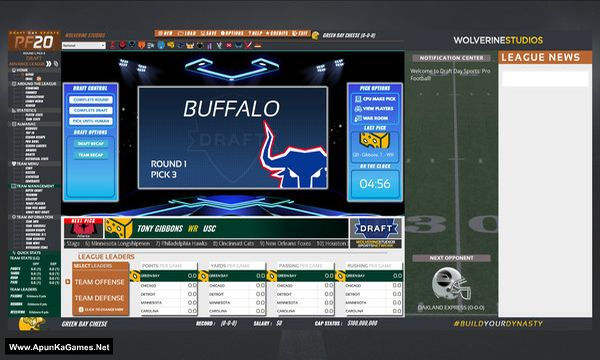 Draft Day Sports: Pro Football 2020 Screenshot 3, Full Version, PC Game, Download Free