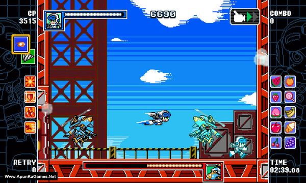 Mighty Gunvolt Burst Screenshot 1, Full Version, PC Game, Download Free