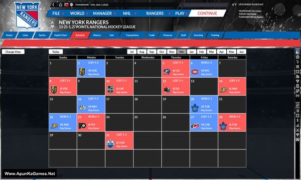 Franchise Hockey Manager 6 Screenshot 2, Full Version, PC Game, Download Free