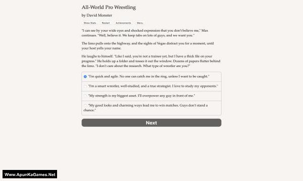 All World Pro Wrestling Screenshot 1, Full Version, PC Game, Download Free