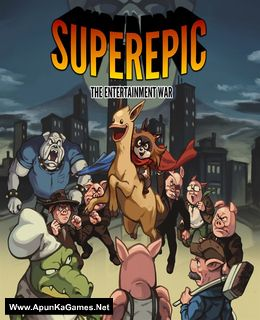 SuperEpic: The Entertainment War Cover, Poster, Full Version, PC Game, Download Free