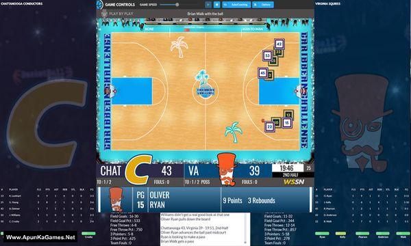 Draft Day Sports: College Basketball 2020 Screenshot 1, Full Version, PC Game, Download Free