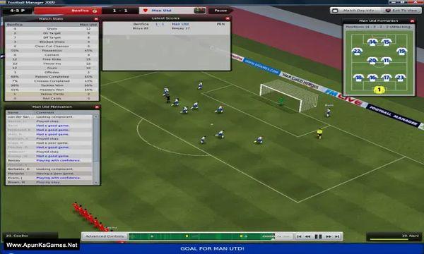 Football Manager 2009 Screenshot 3, Full Version, PC Game, Download Free