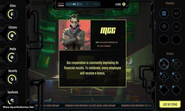 InfiniteCorp: Cyberpunk Revolution Screenshot 1, Full Version, PC Game, Download Free