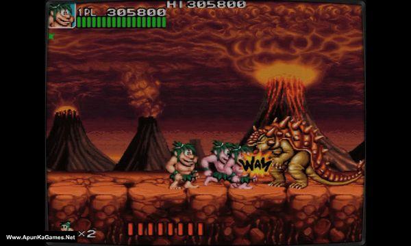 Retro Classix: Joe and Mac - Caveman Ninja Screenshot 2, Full Version, PC Game, Download Free