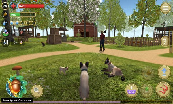 Cat Simulator : Animals on Farm Screenshot 1, Full Version, PC Game, Download Free