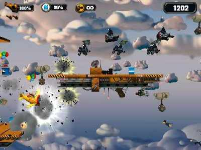 Crazy Chicken Sky Botz Screenshot Photos 1
